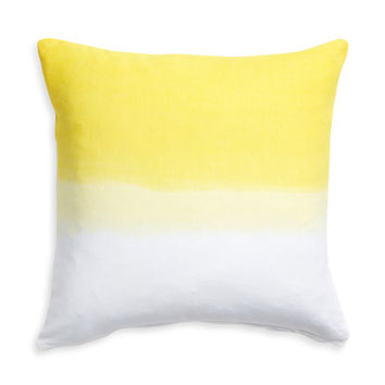 Nine Space Dip Dye Decorative Pillow Cover - Yellow