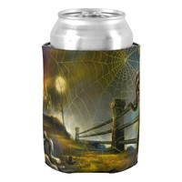 Halloween Can Cooler/Haunted Scene Can Cooler
