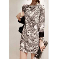 Printed Chiffon Mini Dress