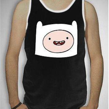 Licensed cool NEW Adventure Time With Finn Boy & Jake Face Tank Top T-Shirt Mens S-XL Licensed