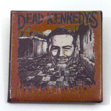 Vintage 80s Dead Kennedys Give Me Convenience or Give Me Death Badge Pinback Button Pin