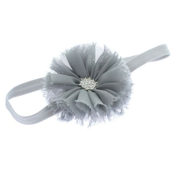 Baby Frayed Ballerina Flower Headband