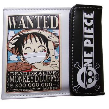 One Piece Luffy Wanted Anime Wallet