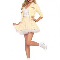 Yellow White 2 PC. Good Sandy Costume @ Amiclubwear costume Online Store,sexy costume,women's costume,christmas costumes,adult christmas costumes,santa claus costumes,fancy dress costumes,halloween costumes,halloween costume ideas,pirate costume,dance co