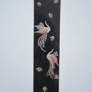 "Handmade unique bookmark ""Snowy Romance"" - Pressed flowers bookmark - Unique gift - Paper bookmark - Original art collage."