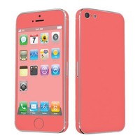 SkinGuardz Vinyl Decal Protective Sticker Skin for Apple iPhone 5 - (Summer Orange)
