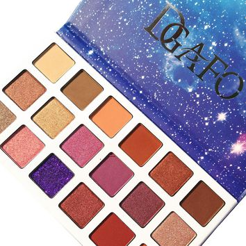 DGAFO New 18 Colors Eyeshadow Palette Smoky Shimmer Cosmetics Matte Glitter Shimmer Eye Shadow Makeup Palette Eyeshadow Palette