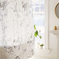 Black + White Marble Shower Curtain | Urban Outfitters