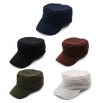 1 PC Vintage Army Hat Cadet Patrol Baseball Caps Classic Solid Plain Adjustable Hats 5 Colors For Men and Women