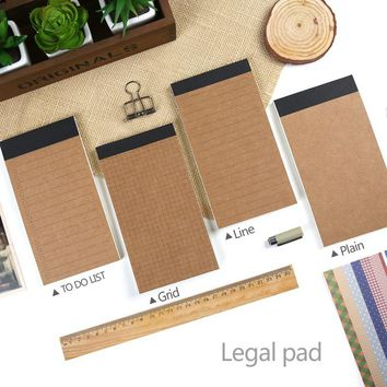 legal pad Pocket notebooks to do list planners notepad Lined pages Plain paper line pages diary Stationery office supplies