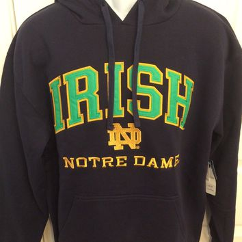 Notre Dame Fighting Irish NAVY Champion Hooded Sweatshirt - 2XL/XL/Large - NWT