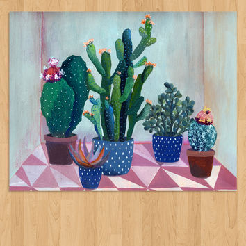 Blooming Cactus Giclee Print