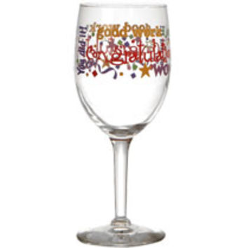 Bulk Brand-Name Congratulations Wine Glasses, 10 oz. at DollarTree.com