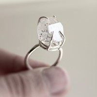 The Rock 2  herkimer diamond sterling silver ring