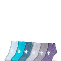 Under Armour® Essential 6 Pack Socks - Women's Accessories in Purple Heather Asst | Buckle