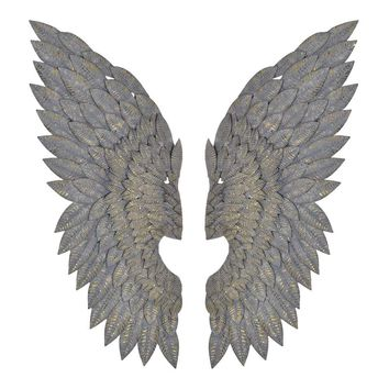 Feathered Metal Wings (Pair) - French Bedroom Company
