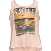 Full Tilt Smile Lace Back Girls Tank Peach  In Sizes