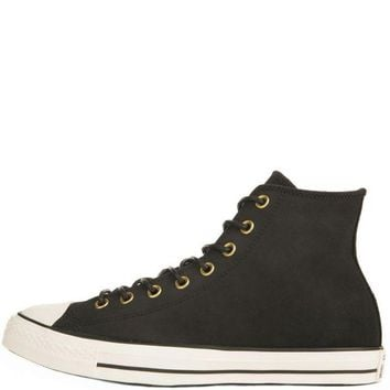 DCKL9 Converse for Men: Chuck Taylor All Star Crafted Black Suede High Tops