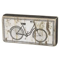 Bicycle Wooden Box Sign Art