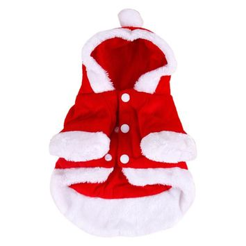 Santa Dog Costume Christmas Pet Clothes Angel Wing Winter Hoodie Coat Festival Clothes For Dogs Clothing