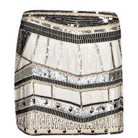 Lyra Deco Sequin Front Mini Skirt