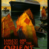 Canadian Pacific Orient Vintage Travel Poster