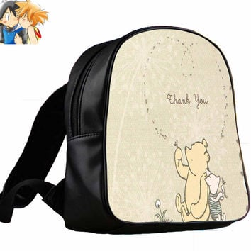 classic winnie the pooh and piglet for Backpack / Custom Bag / School Bag / Children Bag / Custom School Bag