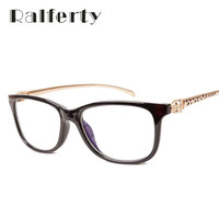 Ralferty Vintage Leopard Optic Clear Eyeglasses Frame Brand Designer Women Eye Glass Decoration Reading Glasses Plain Mirror 720