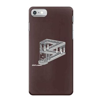 some game involving falling blocks in the style of m.c. escher iPhone 7 Case