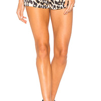 Amanda Uprichard Brooklyn Short in Leopard