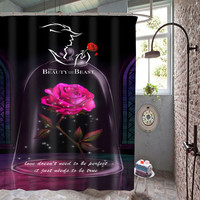 New Hot Beauty And The Beast High Quality Custom Shower Curtain 60 x 72 Inch