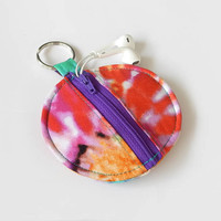 Earbud Holder / Coin Pouch / Tie Dye Coin Purse / Hippies / 60s / Hippie Accessories / Earbud Case / Ear Bud Holder / Small Pouch