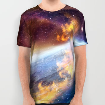 Cosmic fire All Over Print Shirt by exobiology