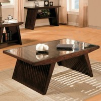 Standard Furniture Deco Cocktail Table in Deep Brown - 20881 - Accent Tables - Decor