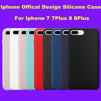For iPhone 7 7s 6 6s Plus 5 5S SE Offical Original Design Silicone Silicon Case Luxury Official Phone Cover with Logo Capa