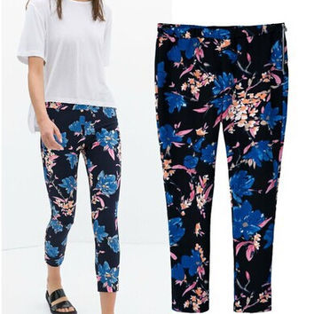 Summer Casual Causal Slim Print Pants = 5840502721