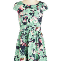 ModCloth Mid-length Cap Sleeves A-line So You Think You Can Prance Dress