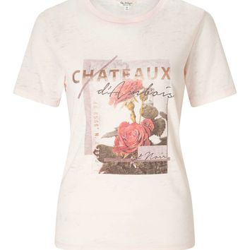 Pink Chateau Burn Out T-Shirt | Missselfridge