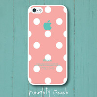 iPhone 5 Case  Peach Lady Bug by NaughtyPeach on Etsy