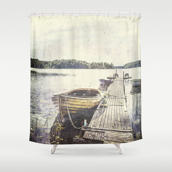 Boaty Shower Curtain by HappyMelvin