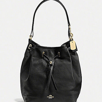 COACH TURNLOCK TIE BUCKET BAG IN MATTE SOFT GRAIN LEATHER | Dillards.com