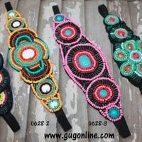 Fancy Designs Beaded Headbands in Four Color Options