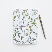 Medium Illustrated Journal | Hand Illustrated Floral Notebook : Wild Garden Collection