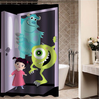 "monsters inc art Custom Shower curtain,Sizes available size 36""w x 72""h 48""w x 72""h 60""w x 72""h 66""w x 72""h"