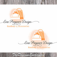 OOAK Logo Design Premade Logo & Watermark Shopping Bag Logo Elegant Logo Handbag Logo Accessories Logo Boutique Logo Custom Business Logo