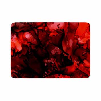 "Claire Day ""Dark Red"" Maroon Memory Foam Bath Mat"