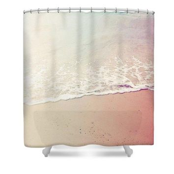 Ocean Air, Salty Hair, Watercolor Art By Adam Asar - Asar Studios - Shower Curtain