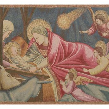 Nativity Giotto Tapestry Wall Art Hanging