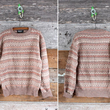 Jantzen wool sweater / vintage fair isle sweater / unisex
