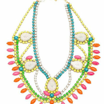 Doloris Petunia | Santa Monica Swarovski Crystal Necklace